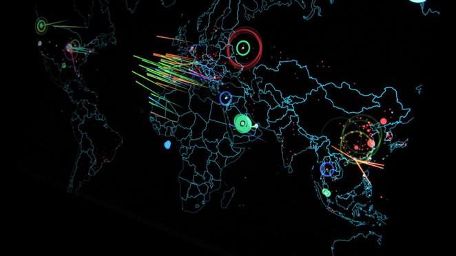 全球DDoS攻击监控图
