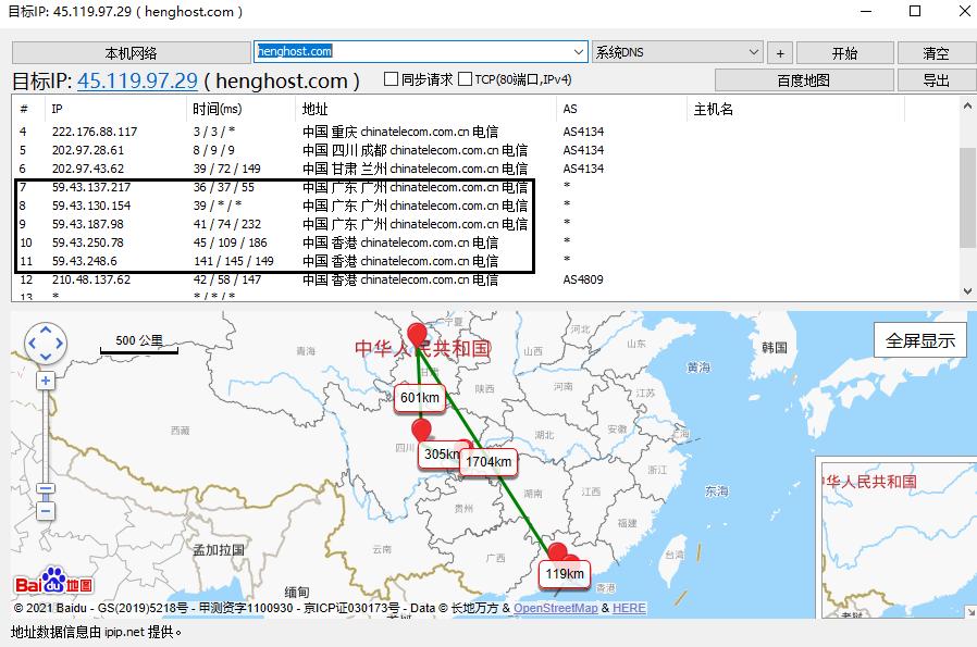 怎么看香港服务器是不是CN2线路?